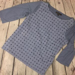 Outback Red pastel blue lattice top